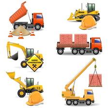 Bau, Haus, Bagger, Kran, Baustelle, Bauarbeiter
