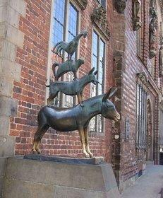 Stadtmusikanten, Märchen, Statue, Figur, Kunst, Sehenswürdigkeit