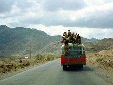 Busreise, Wüste, Ausflug