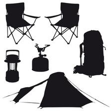Camping, Zelt, Luftmatratze, Zeltplatz, Rucksack