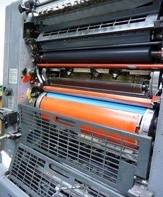 Einfarben-Offset-Druckmaschine, Druckerei, Drucktechnik