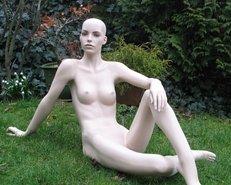 nackt, Schaufensterpuppe, Brüste, Brust, Natur, Garten