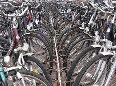 Fahrradverleih, Fahrräder, Fahrradständer