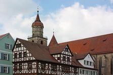 Feuchtwangen, Ansbach, Mittelfranken, Stiftskirche, Altstadt