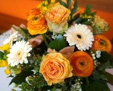 Blumenstrauß, Floristik, Blumengeschäft, Fest, Tischdekoration
