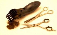 Schere, Rasierapparat, Haare schneiden
