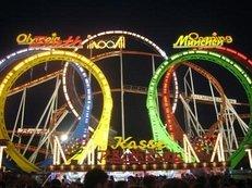 Funpark, Freizeitpark, Achterbahn, Looping