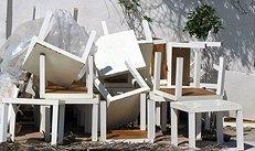 Möbel, Beistelltisch, abgenutztes Mobiliar