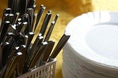 Geschirrverleih, Teller, Besteck, Catering-Service