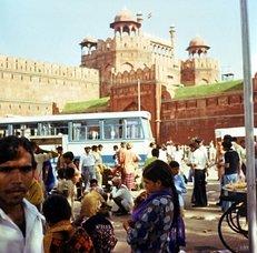 Rotes Fort, Neu-Delhi, Menschenauflauf