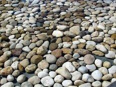 Kies, Kieselsteine, Flussbett