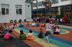 Kindergarten, Gruppe, Kinder, Spiele