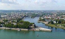 Koblenz, Stadt, Rhein, Panorama, Fluss