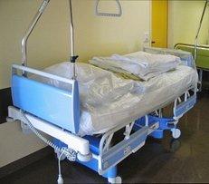 Bett, Krankenhaus, Flur