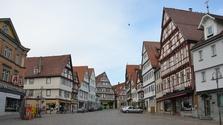 Leonberg, Württemberg, Marktplatz, Altstadt, Fachwerk