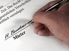 Mieter, Mietvertrag, Vermietung, Mietwohnung