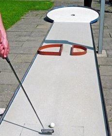 Minigolf, Bahn, Schläger, Golfball, Hobby