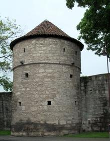 Stadtmauer, Wehrturm, Mühlhausen Thüringen