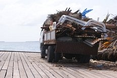 Müllentsorgung, Malediven, Meer