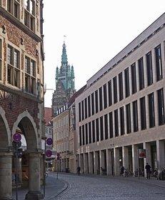 Arkaden, Stadtturm, kontrastreiche Architektur, Münster