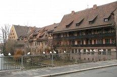 Nürnberg, Altstadt, Brücke, Fluss, Pegnitz