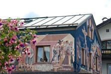 Lüftlmalerei, Oberammergau, Fassade, Alpen, Oberbayern