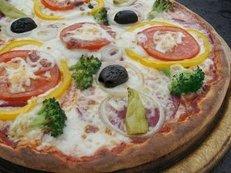 Pizza, Steinofen, Tomaten, Teig, Oliven