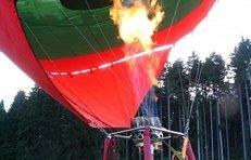 Heißluftballon, Gas, Luft erwärmen