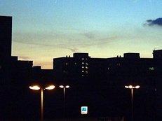 Ratingen, Stadtleben, Abenddämmerung