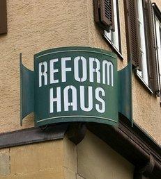 Reformhaus, alt, Gasse, Schild