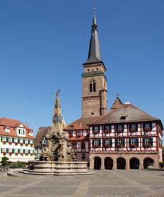 Rathaus, goldenes Dach, Schwabach, mittelfränkisches Becken, Goldschlägerstadt