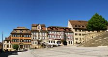 Altstadt, Schwäbisch Hall, Marktplatz, historisch, Fachwerkhäuser