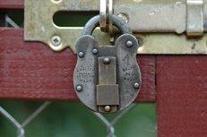 metall, ringschloss, sicherheit
