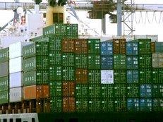 Container, Schiff, Übersee