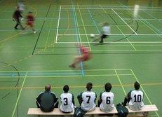 Hallenfußball, Sporthalle, Teamsport, Ballsport, Fußball