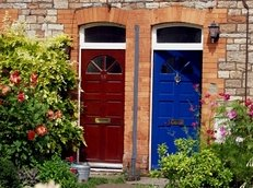 Türen, Haustür, farbig,