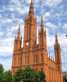 Martkirche, Türme, Kirche, Wiesbaden, Altstadt, Gebäude, Altbau