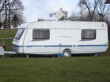 Wohnwagen, Camping, Vorzelt, Wohnmobil, Anhängerkupplung