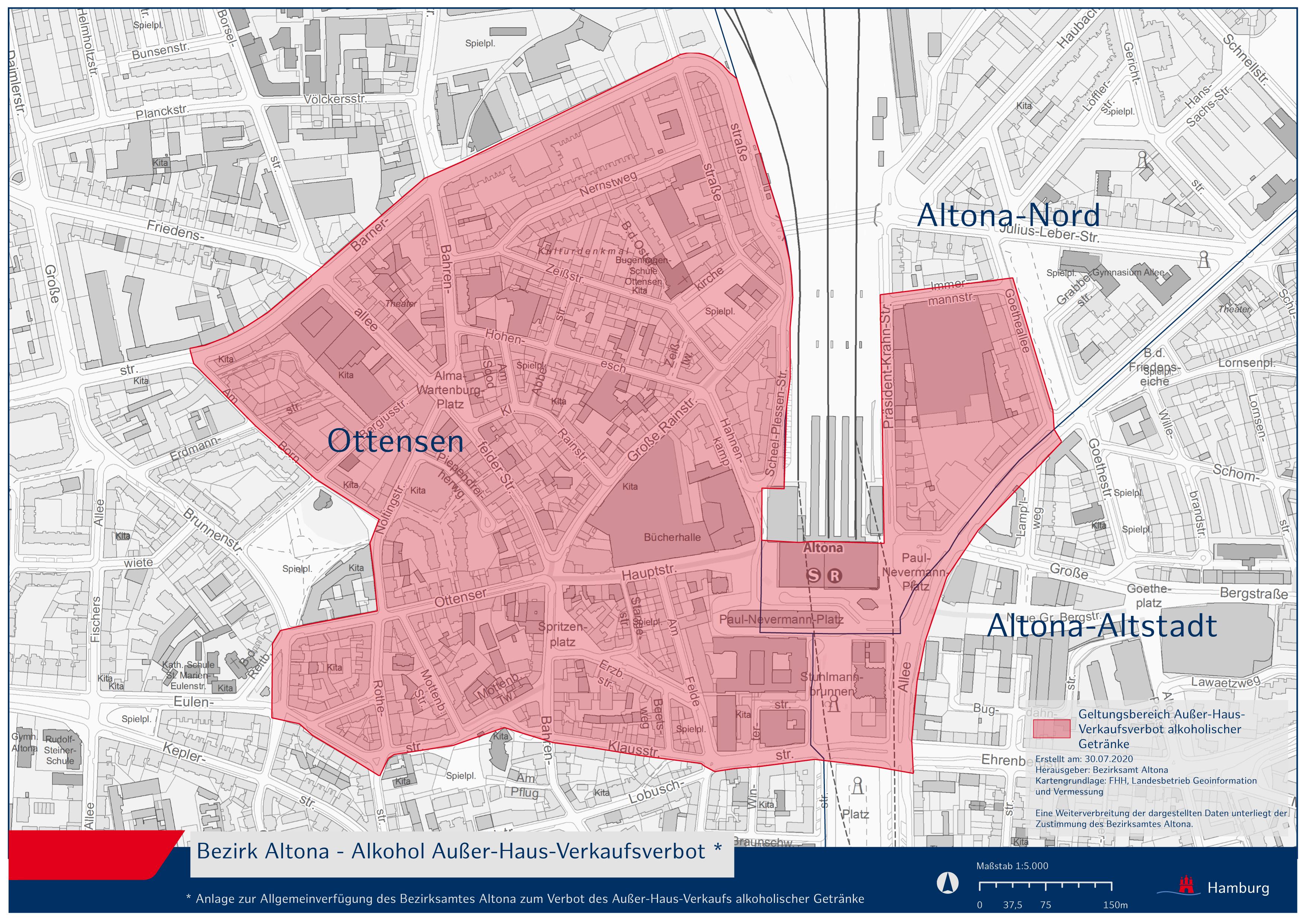 Karte Alkoholverbot Altona