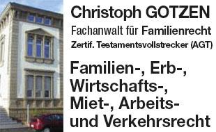 Gotzen Christoph, Rechtsanwalt, Fachanwalt für Familienrecht, Zertif. Testamentsvollstrecker (AGT)