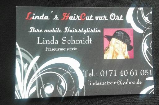 Linda's HairCut vor Ort