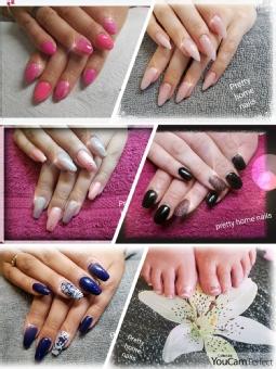 Pretty home nails by Christin Hofmann