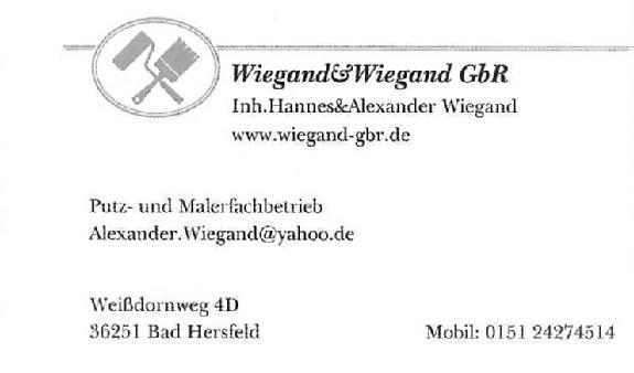 Alexander und Hannes Wiegand GbR