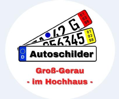 Autoschilder Groß-Gerau (im Hochhaus)