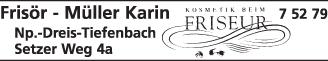Anzeige Frisör Müller Karin