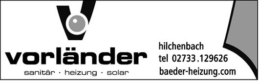 Anzeige Vorländer Sanitär-Heizung-Solar